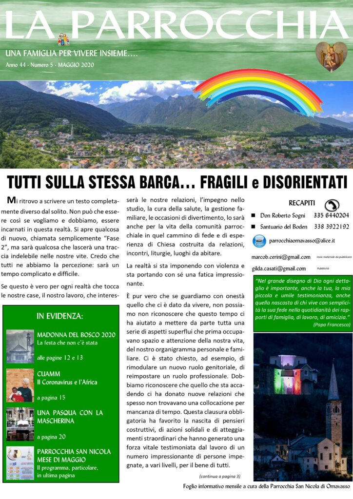 Bollettino Maggio 2020